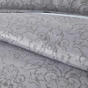 detail shot of bella duvet in pewter