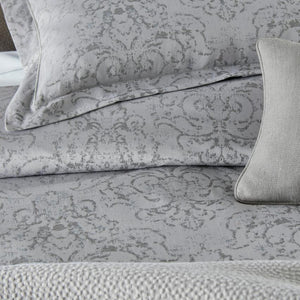detail view of bella duvet and shams