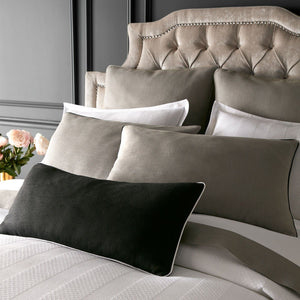 mandalay linen grey standard and euro shams