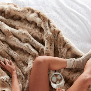 Mila Faux Fur Throw Blanket