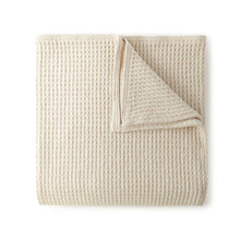Load image into Gallery viewer, Delta Natural Basket Weave Cotton Blanket