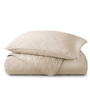 Diamond Quilted Sateen Coverlet Set