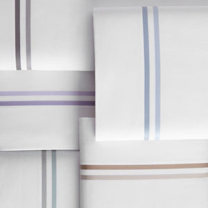 peacock alley duo flat sheets stacked