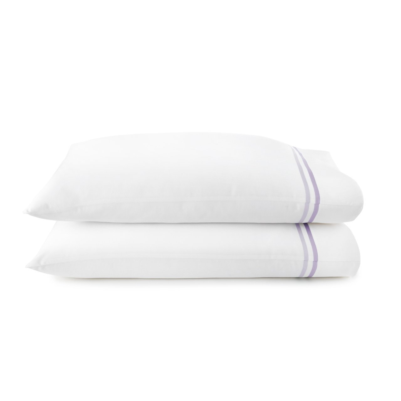 peacock alley duo pillow cases in lilac