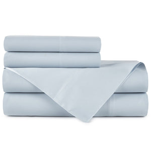 Emily Egyptian cotton sheet set in Aquamarine