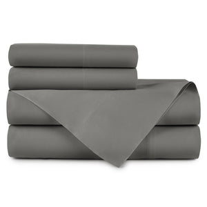 Emily Egyptian cotton sheet set in Iron
