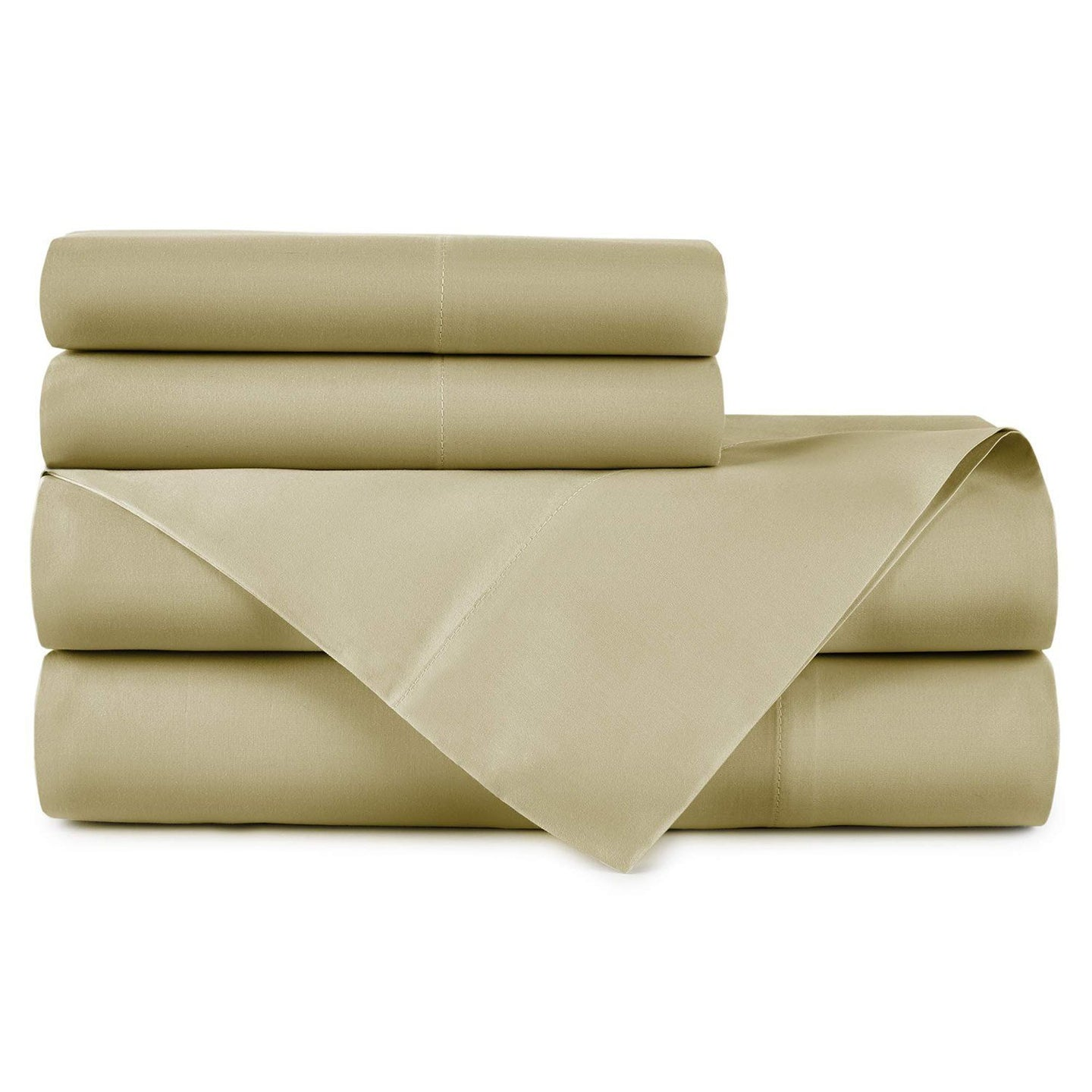 Emily Egyptian cotton sheet set in Mushroom
