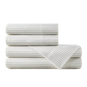 stripe emily egyptian cotton sateen sheet set