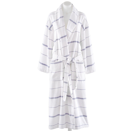 Emmett Pesh Bathrobe with navy stripes