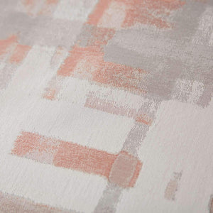 close up of Enzo jacquard fabric in coral