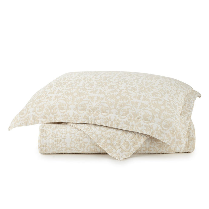 Francesca Sham stacked on top of Francesca Linen Duvet