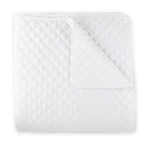 Francisco quilted white coverlet