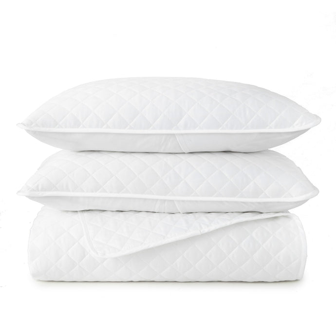 Francisco quilted white coverlet and shams set