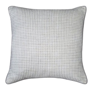 Graham Houndstooth Decorative Pillow Pewter