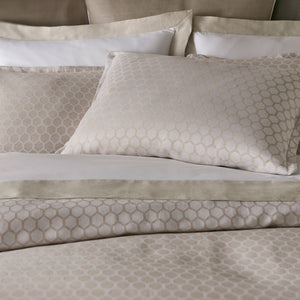 honeycomb patterned bedding duvet and shams