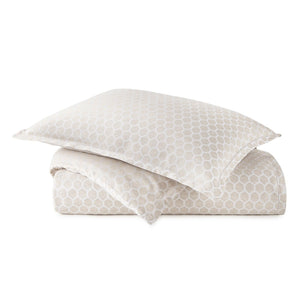 honeycomb patterned duvet cover and sham