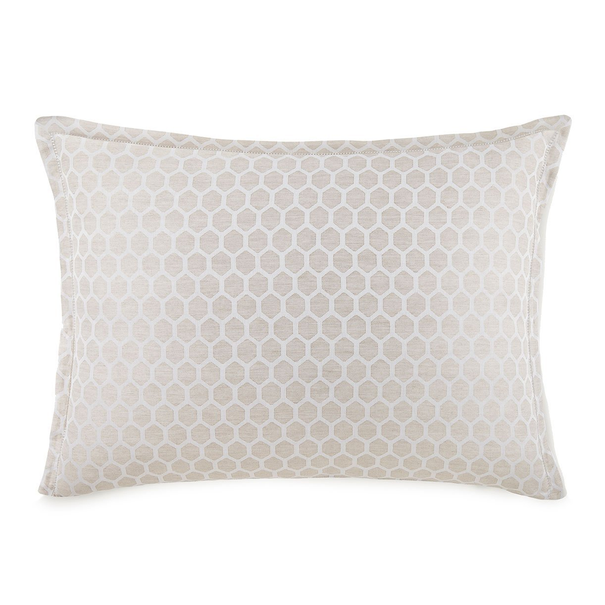 honeycomb patterned pillow sham