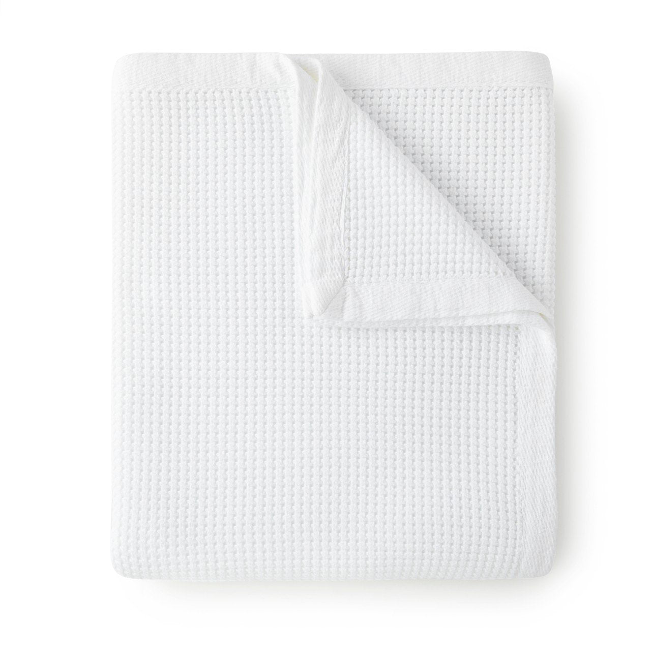 Peacock Alley White Hudson Waffle Weave Blanket