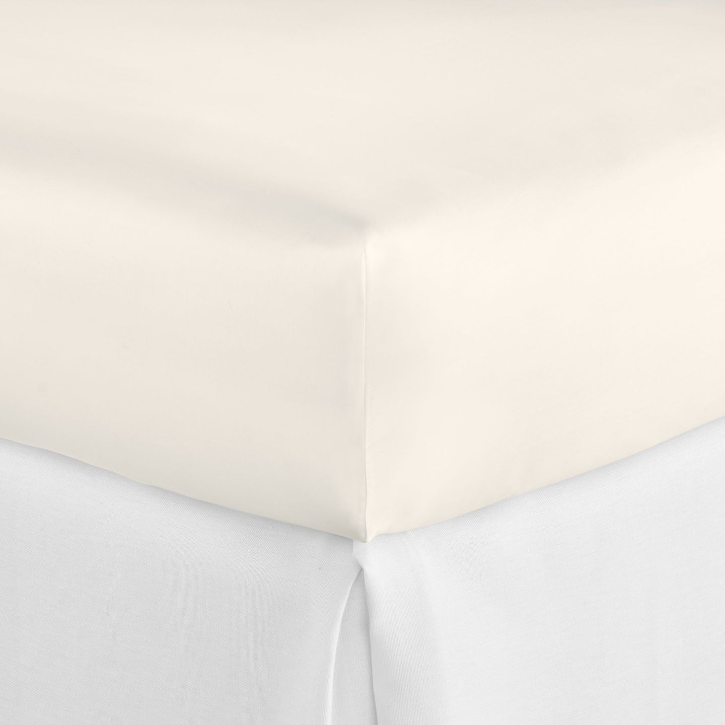 SUPIMA® Semplice Sateen Fitted Sheet ivory