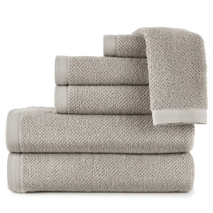 stack of cotton bath towels in flint