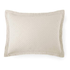 neutral linen colored quilted matelasse sham
