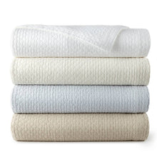 Load image into Gallery viewer, stack of peacock alley juliet coverlets in neutral colors