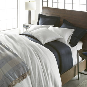 Maddox Plaid Duvet Cover bed angled