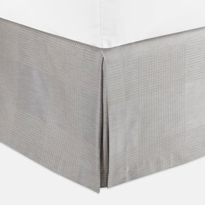 matteo plaid pewter bed skirt