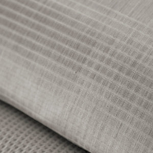 detail shot of Matteo plaid pewter fabric