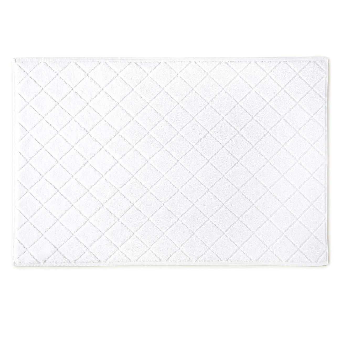 bath mat with diamond design