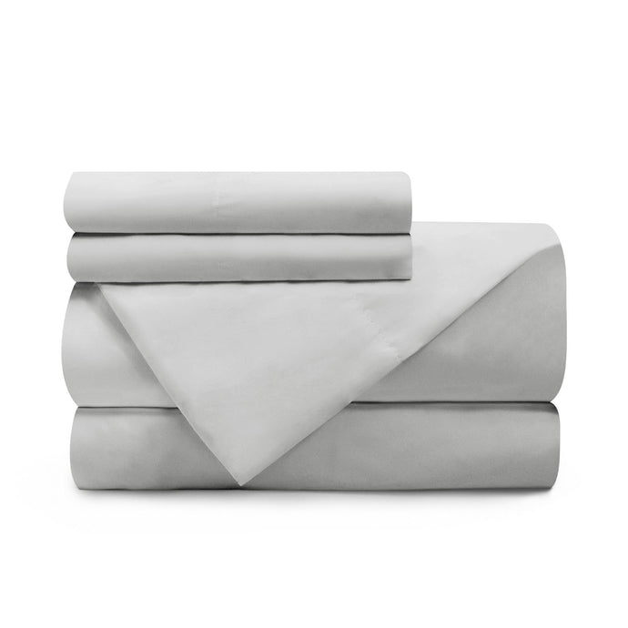Terra Organic Cotton Sheets Stacked Light Grey Color