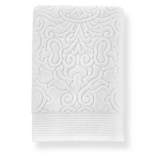 Load image into Gallery viewer, folded white damask pattern bath towel