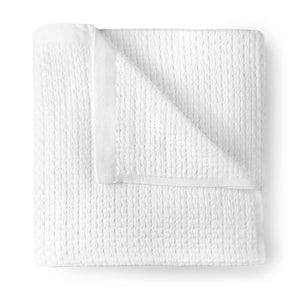Patara Basket Weave Blanket white