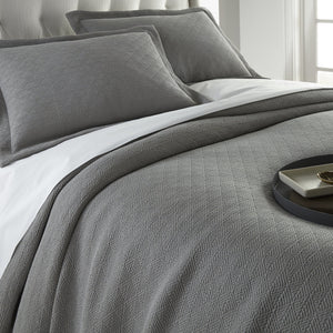 Pewter Paulo bed with shams