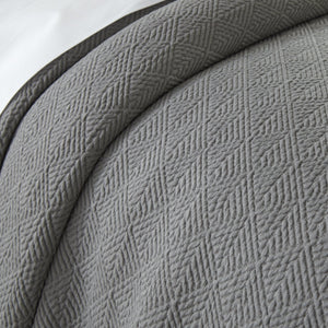 Pewter Paulo Coverlet detail