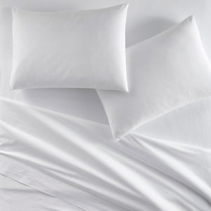 40 winks white percale sheets and pillowcases