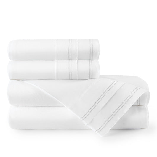 Prelude Percale Sheet Set flint