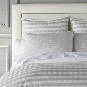Prescott Sham pewter on bed