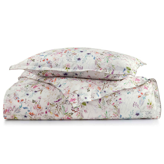 Chloe Floral Percale Duvet Cover