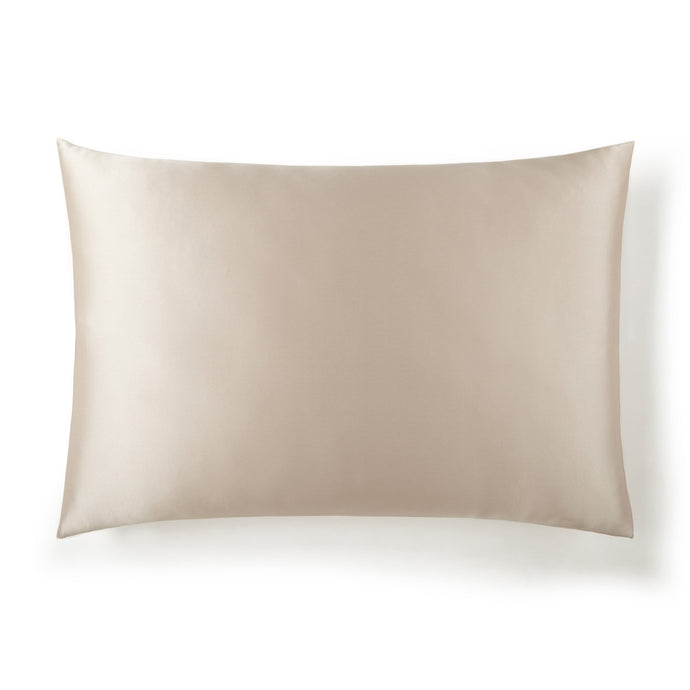 silk pillow case in color latte