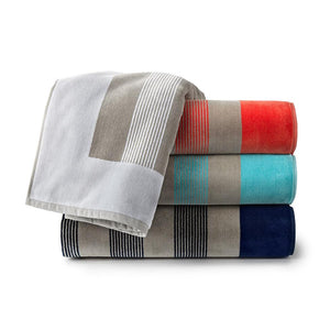 Soleil Striped Beach Towel various colors stacked