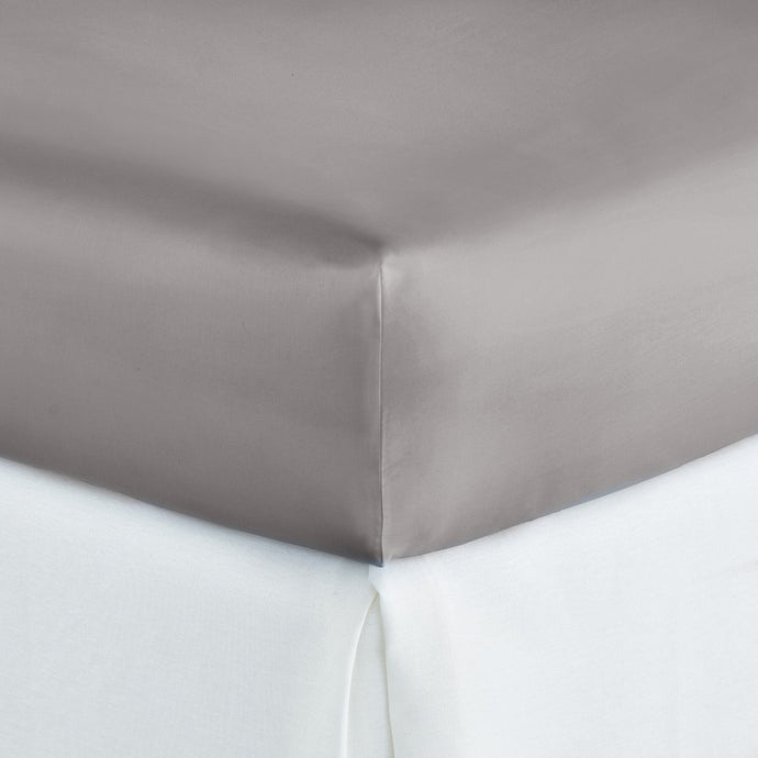 Soprano Sateen Fitted Sheet Pewter