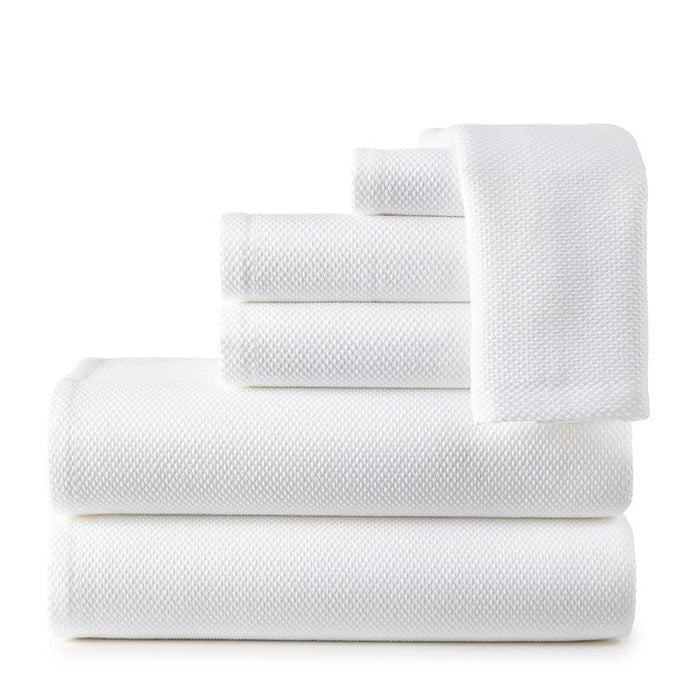 Spa Towel Set Stacked white