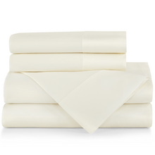Load image into Gallery viewer, SUPIMA® Semplice Sateen Sheet Set ivory
