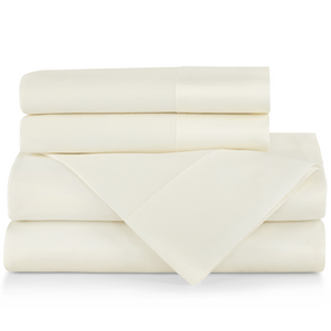 SUPIMA® Semplice Sateen Sheet Set ivory