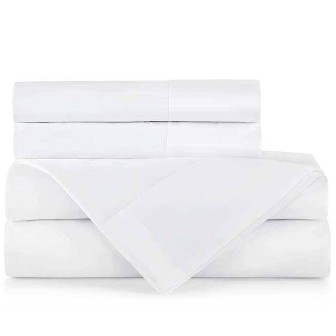 SUPIMA® Semplice Sateen Sheet Set white