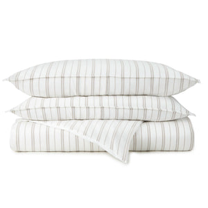Taylor striped jacquard duvet cover and shams