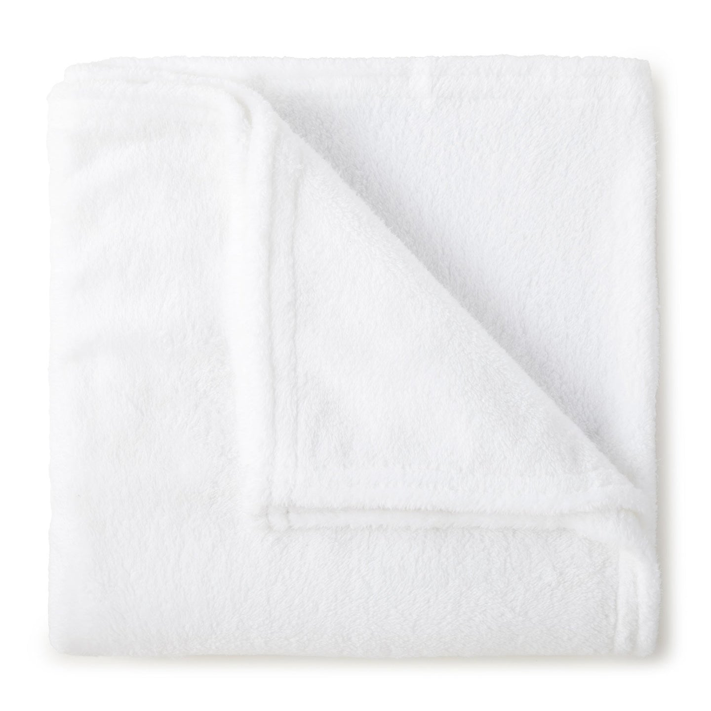 white Calista polyester soft throw blanket
