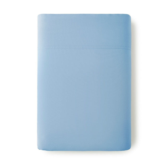 40 winks denim blue percale flat sheet
