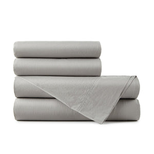 40 winks charcoal gray percale sheet set